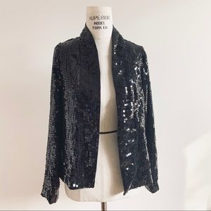 Urban Outfitters Black Sequin Blazer